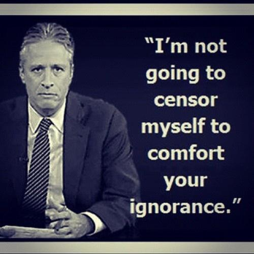 I'm not going to censor myself to comfort your ignorance Picture Quote #1