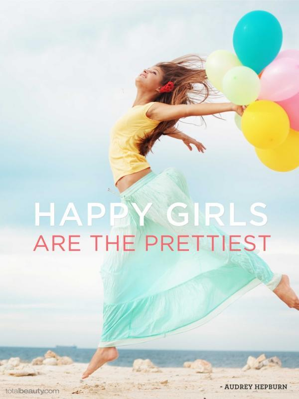 Happy girls are the prettiest Picture Quote #2