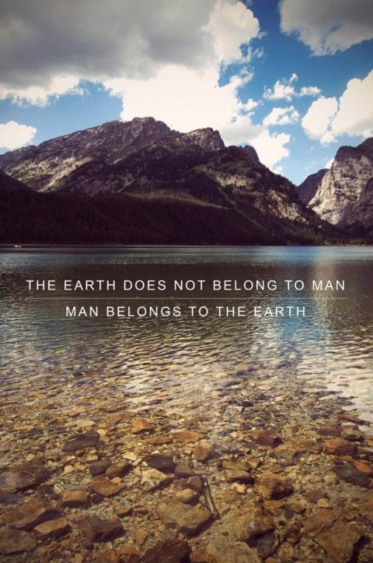 The Earth does not belong to man. Man belongs to the Earth Picture Quote #2