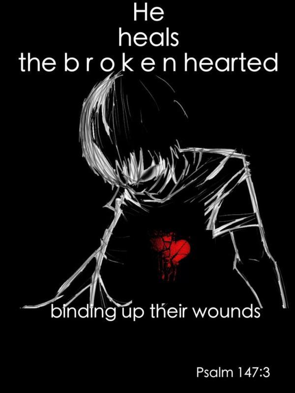 He heals the broken hearted, binding up their wounds Picture Quote #1