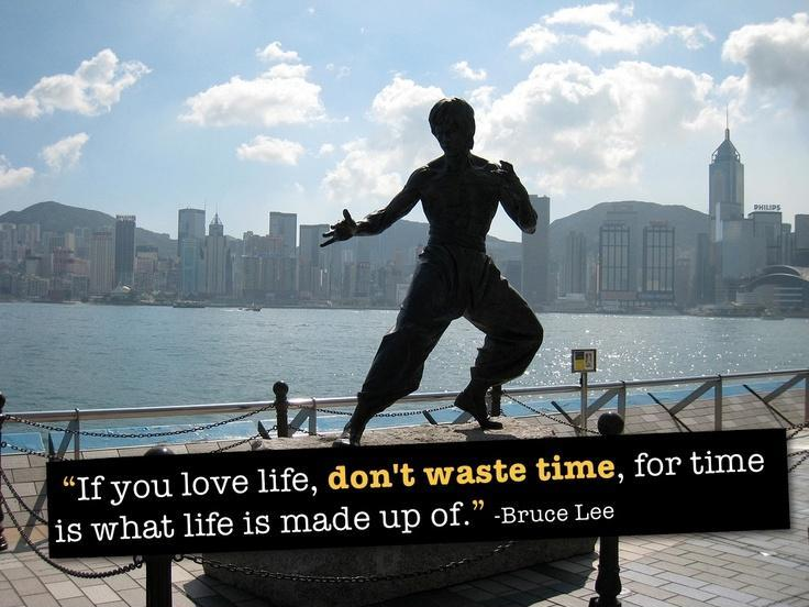 If you love life, don't waste time, for time is what life is made up of Picture Quote #1