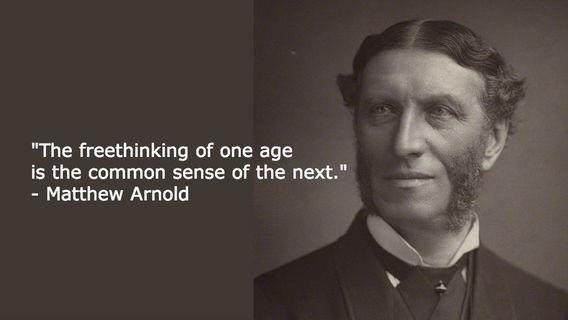 The freethinking of one age is the common sense of the next Picture Quote #1