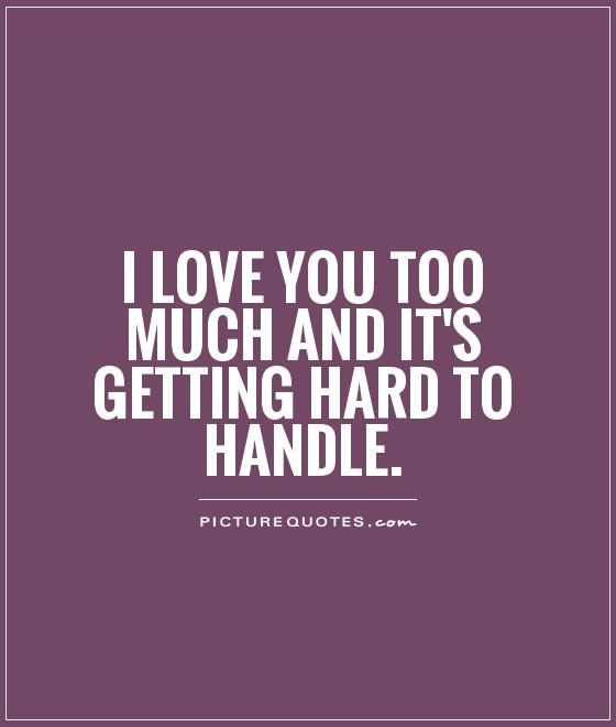 Funny Quotes Love Handles : Love You Too Much Quotes I Love You Too Much Picture Quotes