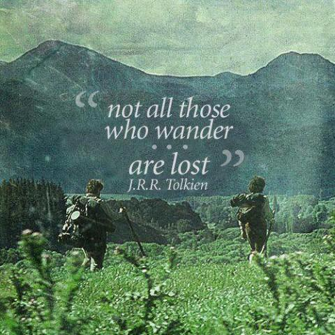 Not all those who wander are lost Picture Quote #1