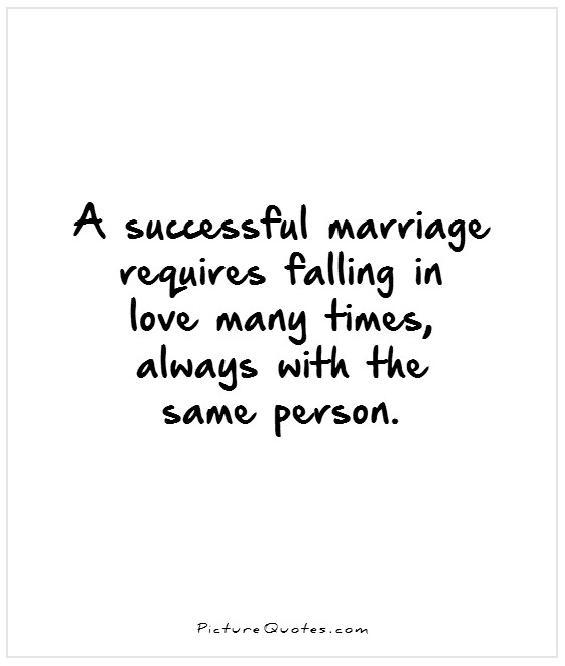 A successful marriage requires falling in love many times, always with the same person Picture Quote #1