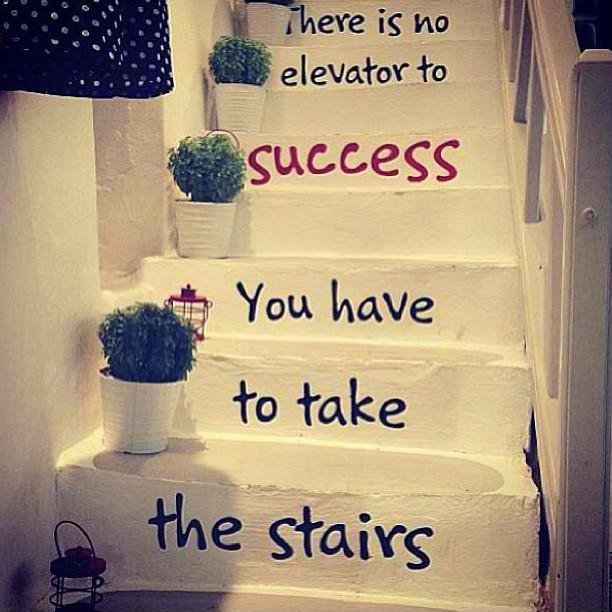 There is no elevator to success, you have to take the stairs Picture Quote #1