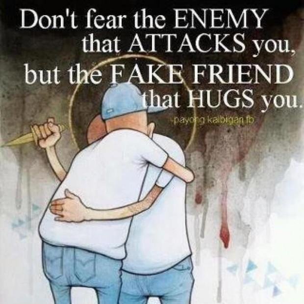 Don't fear the enemy that attacks you, but the fake friend that hugs you Picture Quote #2