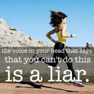 The voice in your head that says that you can't do this is a liar Picture Quote #1