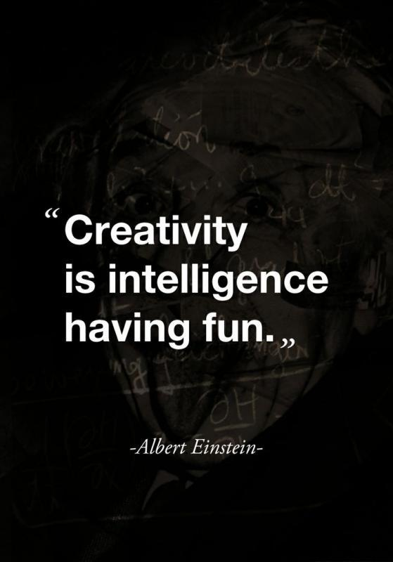 Creativity is intelligence having fun Picture Quote #1