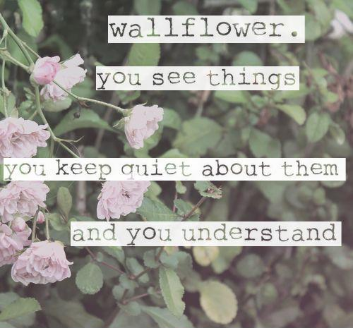 Wallflower. You see things, you keep quiet about them, and you understand Picture Quote #1