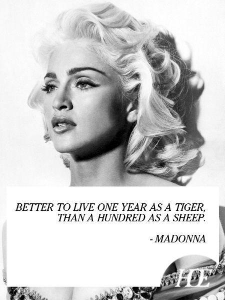 Better to live one year as a tiger, than 100 years as a sheep Picture Quote #1