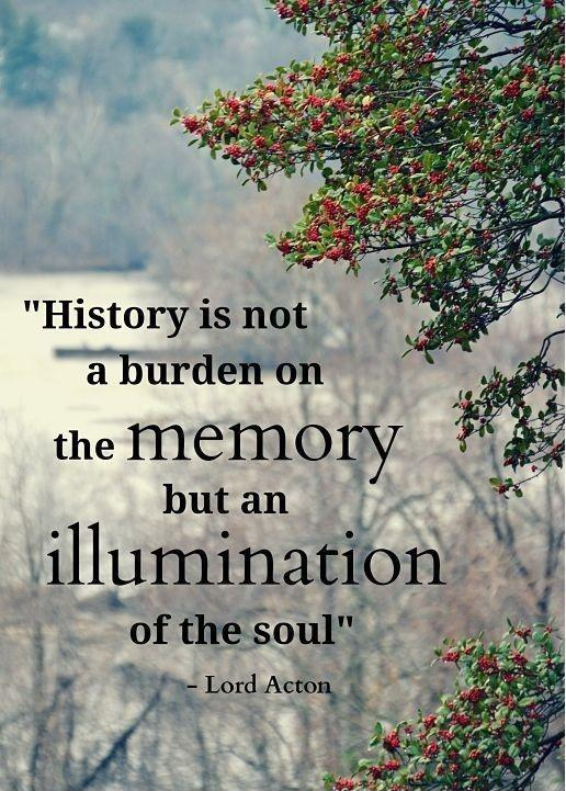 History is not a burden on the memory but an illumination of the soul Picture Quote #2