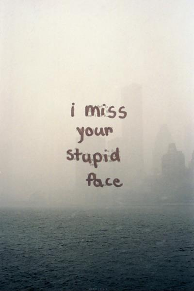 I miss your stupid face | Picture Quotes