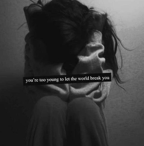 You're too young to let the world break you Picture Quote #1
