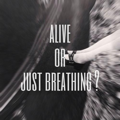 Alive or just breathing? Picture Quote #1