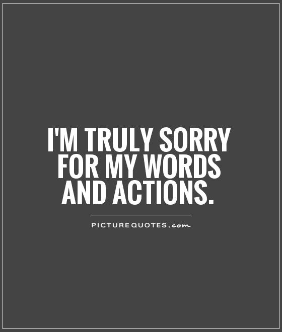 I Am Sorry Sayings
