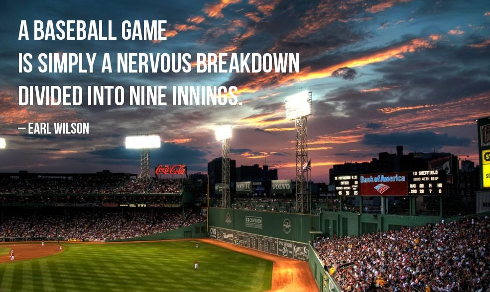 A baseball game is simply a nervous breakdown divided into nine innings Picture Quote #2