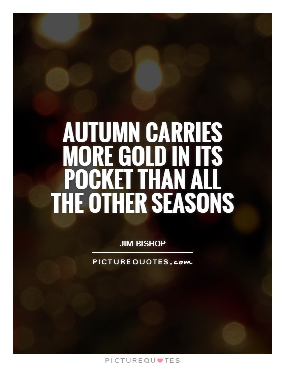 Autumn carries more gold in its pocket than all the other seasons Picture Quote #1