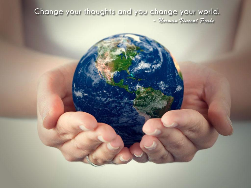 Change your thoughts and you change your world Picture Quote #1