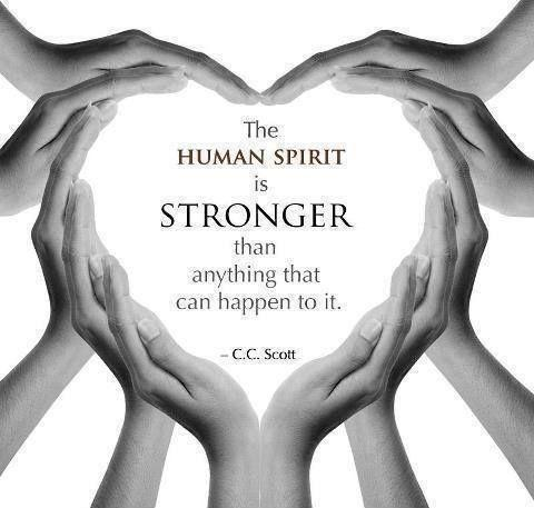 The human spirit is stronger than anything that can happen to it Picture Quote #2