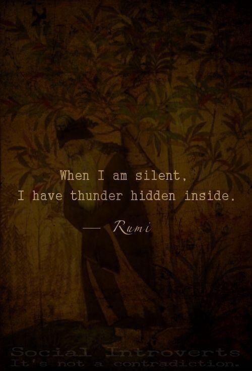 When I am silent I have thunder hidden inside Picture Quote #2