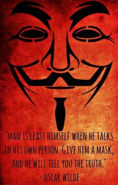 Man is least himself when he talks in his own person. Give him a mask, and he will tell you the truth Picture Quote #1