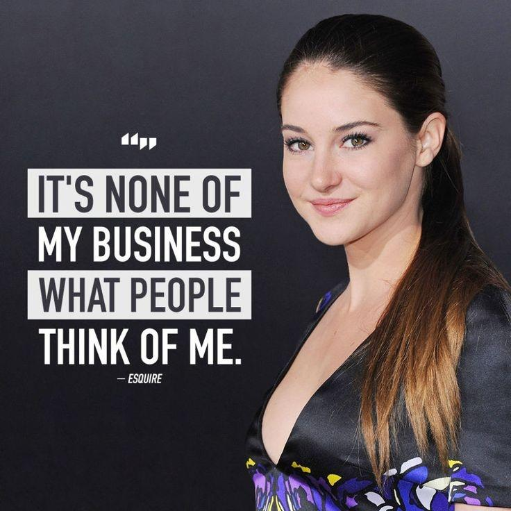 It's none of my business what people think of me Picture Quote #1