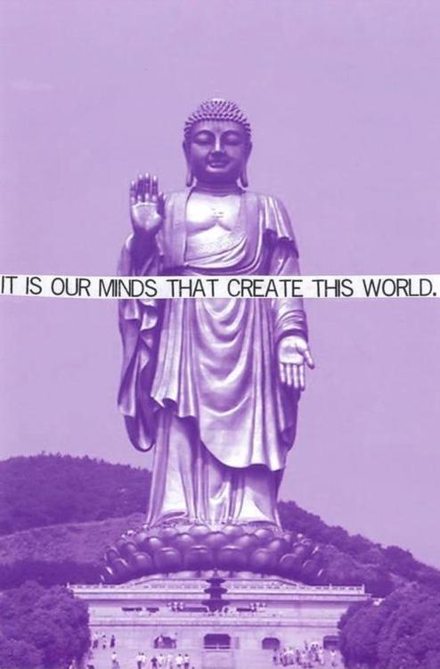 It is our minds that create this world Picture Quote #1