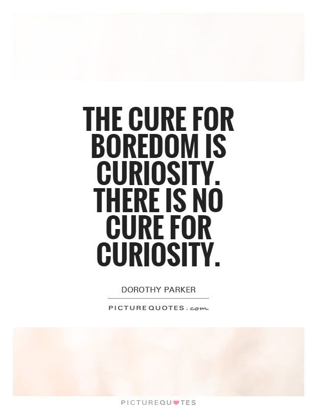 The cure for boredom is curiosity. There is no cure for curiosity Picture Quote #1
