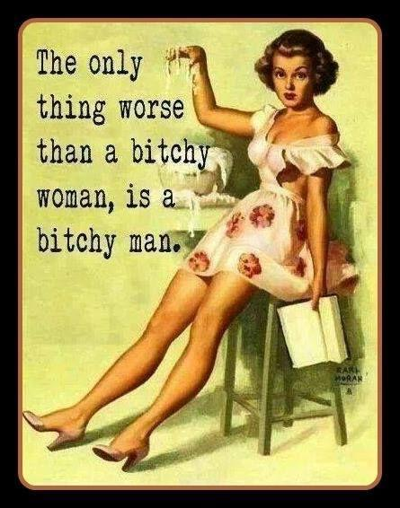The only thing worse that a bitchy woman is a bitchy man Picture Quote #1