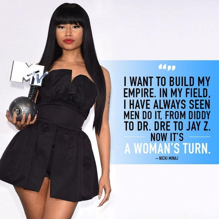 I want to build my empire. In my field I have always seen men do it, from Diddy to Dr. Dre to Jay Z. Now it's a woman's turn Picture Quote #1