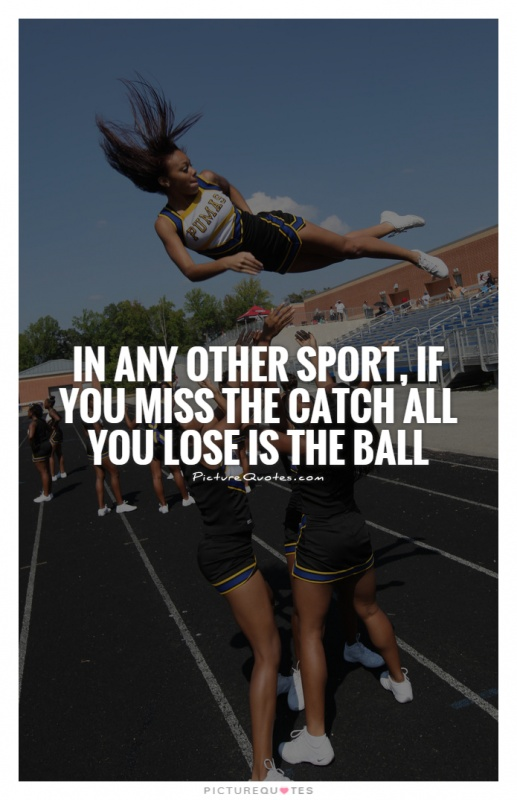 In any other sport, if you miss the catch all you lose is the ball Picture Quote #1