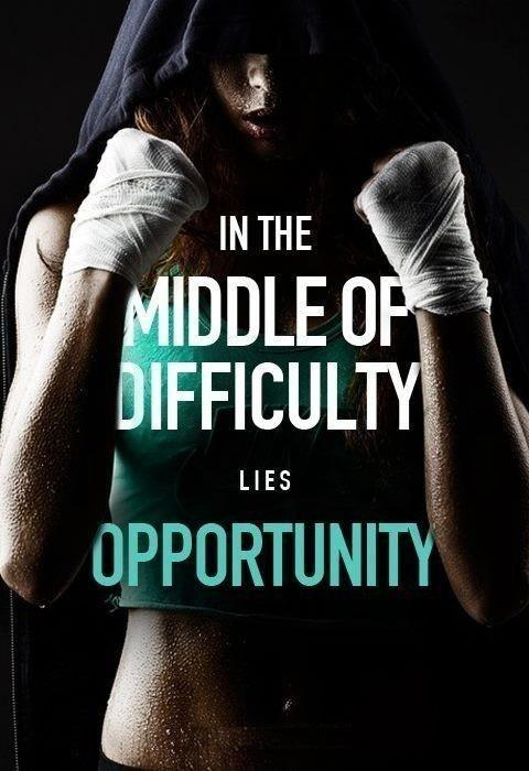 In the middle of difficulty lies opportunity Picture Quote #1