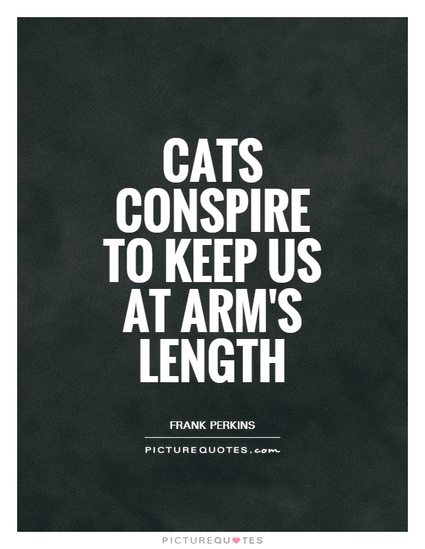 Cats conspire to keep us at arm's length Picture Quote #1