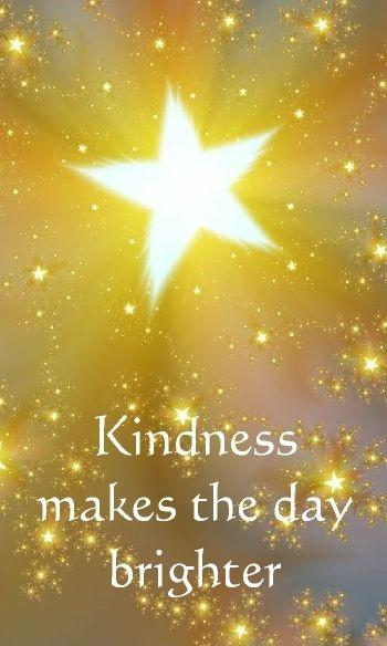Kindness make the day brighter Picture Quote #1