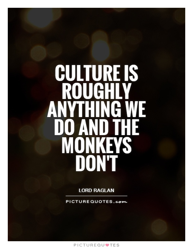 Quotes On Culture Awesome Culture Is Roughly Anything We Do And The Monkeys Don't  Picture