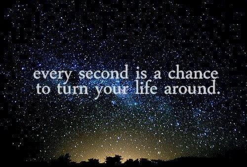 Every second is a chance to turn your life around Picture Quote #1