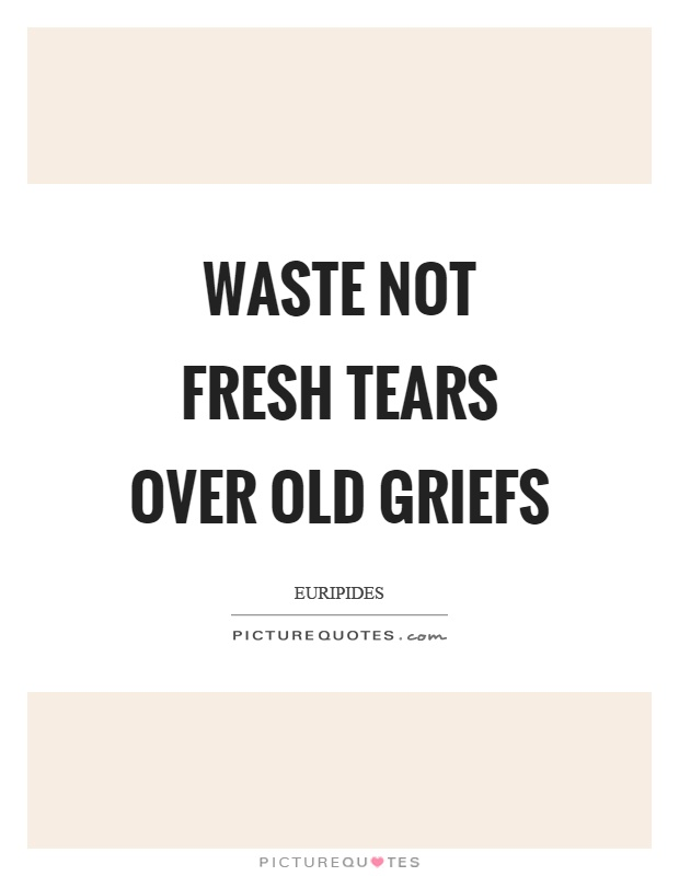 Waste not fresh tears over old griefs Picture Quote #1