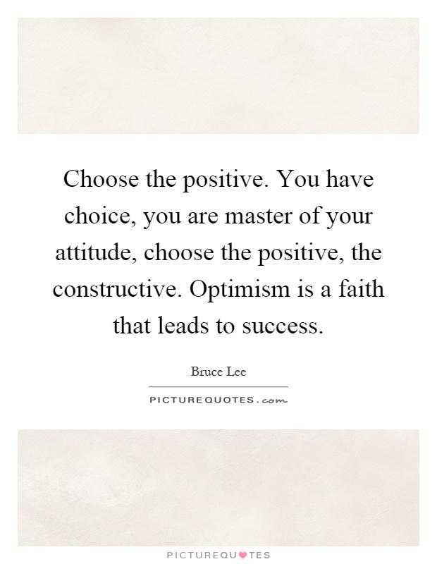 Have you got the positive attitude