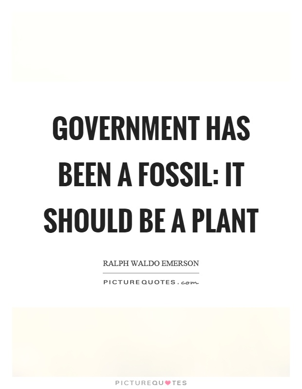 Government has been a fossil: it should be a plant Picture Quote #1