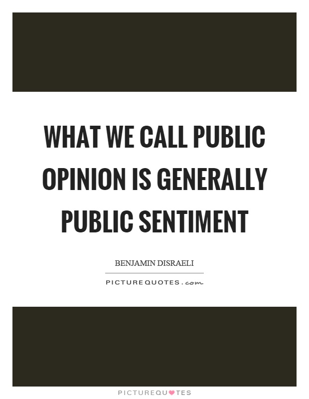 What we call public opinion is generally public sentiment Picture Quote #1