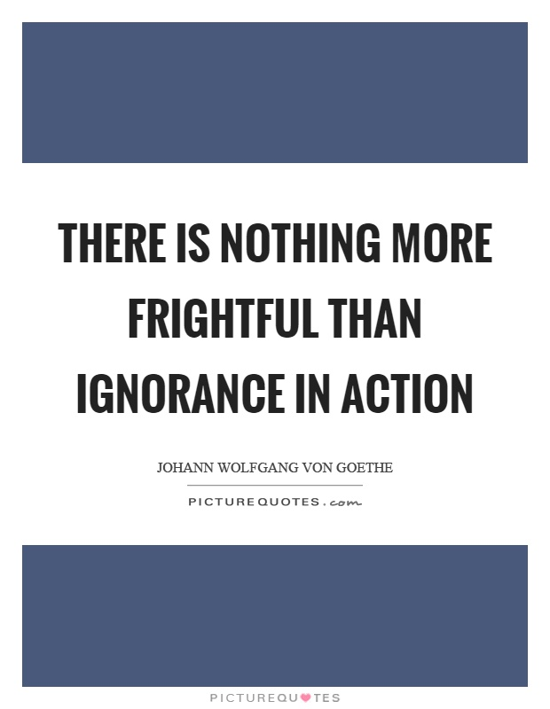 There is nothing more frightful than ignorance in action Picture Quote #1