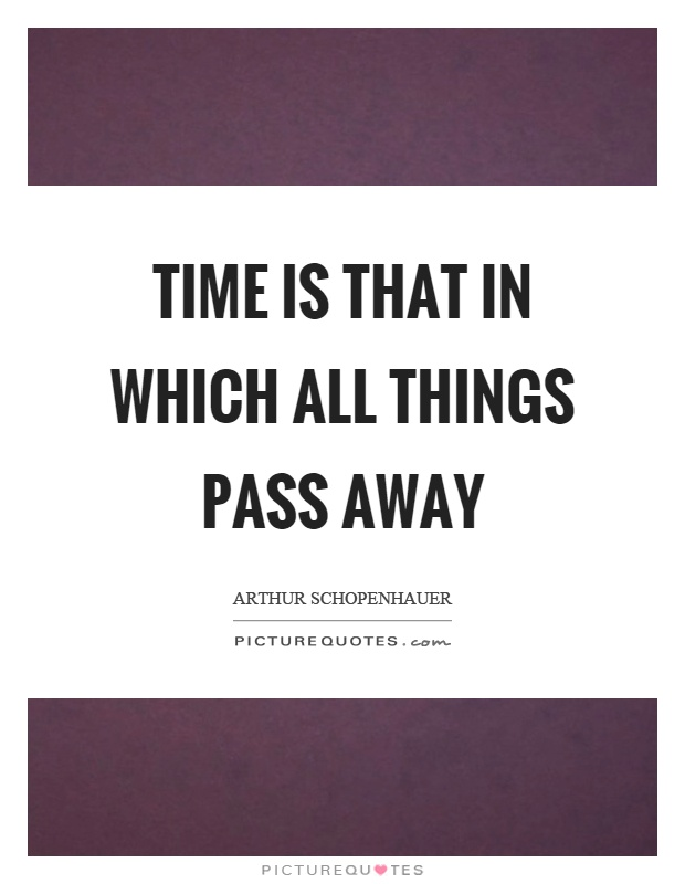 Time is that in which all things pass away | Picture Quotes