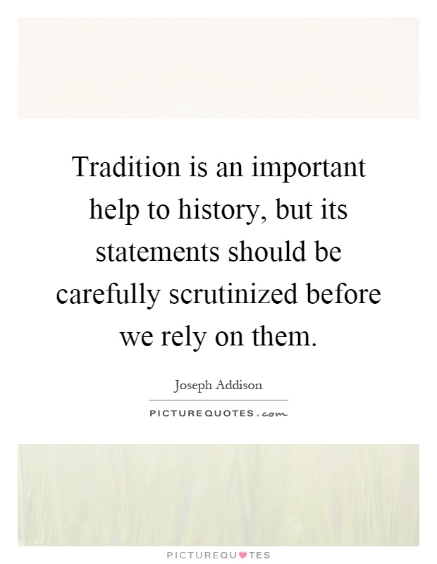 how is tradition important