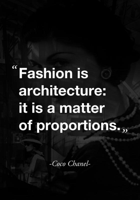 Fashion is architecture: it is a matter of proportions Picture Quote #1
