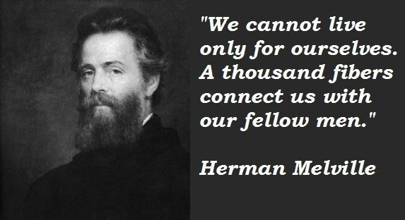 We cannot live only for ourselves. A thousand fibers connect us with our fellow men Picture Quote #2