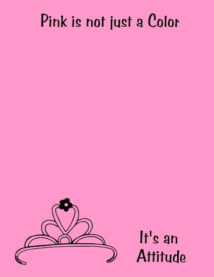 Pink is not just a color, it's an attitude Picture Quote #1