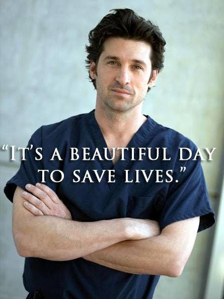 It's a beautiful day to save lives Picture Quote #1