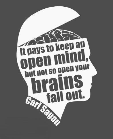 Be open - minded, but not so open - minded that your brains fall out Picture Quote #1