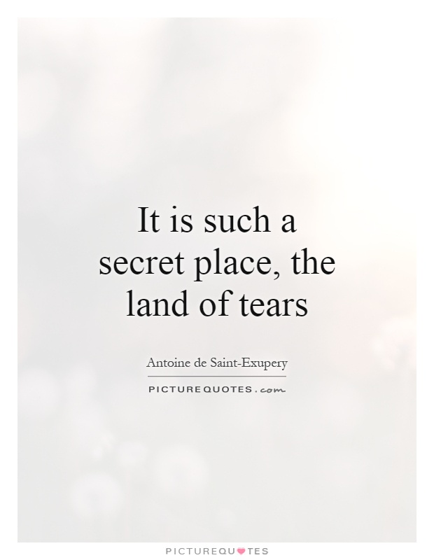 It is such a secret place, the land of tears Picture Quote #1